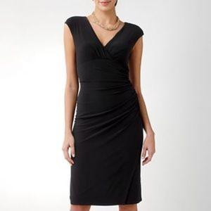 American living side-ruched mock wrap dress